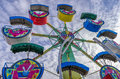 Amusement park ride colorful toy in an Royalty Free Stock Images