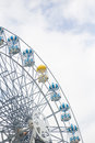 Amusement park rides with sky cloud Stock Photos