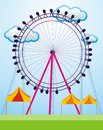 Amusement park vector and illustration Royalty Free Stock Photography