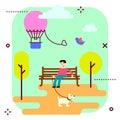 Amusement park vector illustration.