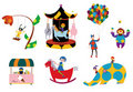 Amusement parks pattern Royalty Free Stock Photo