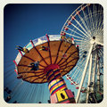 Amusement rides in navy pier chicago Royalty Free Stock Images