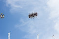 Amusement rides in park Royalty Free Stock Photos