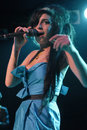 Amy Winehouse performing live Royalty Free Stock Image