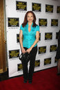 Amy yasbeck henry fonda arriving at the back to bacharach david musical opening at the theater in hollywood california on april Stock Photos