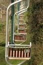 Anacapri cableway one person to monte solaro Stock Photos