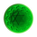 Anahata chakra icon Royalty Free Stock Photo
