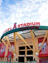 The main entrance of Angel Stadium Royalty Free Stock Photo