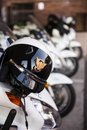 Anaheim police ca december a close up of motorcycle helmet from the dept is in orange county in southern Stock Image