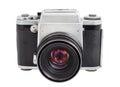 Analog camera on medium format film isolated on a white background Royalty Free Stock Photo