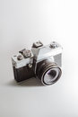 Analog camera slr isolated on white background Royalty Free Stock Photo
