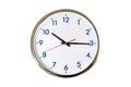 Analog clock isolated Royalty Free Stock Photo