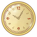 Analog clock isolated on a white background vector with large numerals Stock Photo