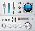 Analog controls interface elements set, vector Stock Image