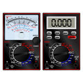 Analog and digital multimeter handheld to measure the voltage Royalty Free Stock Image