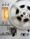 Analog reel tape recorder Royalty Free Stock Image