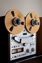 Analog Stereo Open Reel Tape Deck Recorder Royalty Free Stock Image