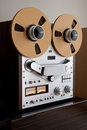 Analog Stereo Open Reel Tape Deck Recorder Royalty Free Stock Photo