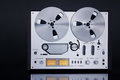 Analog Stereo Open Reel Tape Deck Recorder Vintage Closeup Royalty Free Stock Photo