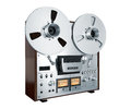 Analog Stereo Open Reel Tape Deck Recorder Vintage Isolated Royalty Free Stock Photo