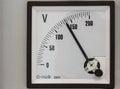 Analog volt meter for measurement Stock Photos