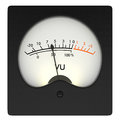 Analog vu meter front view of an on white background d render Royalty Free Stock Photography