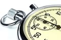 Analogue stopwatch against white background Royalty Free Stock Photos