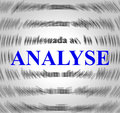 Analyse definition represents data analytics and analysis indicating meaning Stock Photography