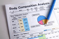 Analysis of body composition. Stock Photography