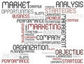 Analysis tag cloud Stock Photo