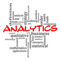 Analytics Word Cloud Concept in Red scribbles Royalty Free Stock Images