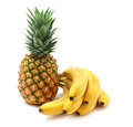 Ananas and babanas isolated object Royalty Free Stock Image