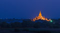 Ananda phaya in the night bagan myanmar Stock Photos
