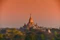 Ananda phaya temple under sunset bagan myanmar Royalty Free Stock Photo