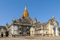 Ananda temple in bagan complex Royalty Free Stock Images