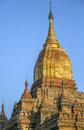 Ananda temple bagan myanmar burma early morning sunshine on the buddhist in the ancient city of in dates from ad Royalty Free Stock Photos