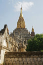 Ananda temple bagan myanmar ruin of the asia Royalty Free Stock Image