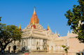Ananda temple myanmar the most famous of bagan of in old bagan Royalty Free Stock Photography