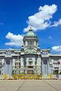 Ananta Samakhom Hall with blue sky Royalty Free Stock Photography