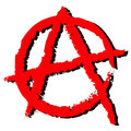 Anarchia symbol Obrazy Stock
