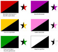 Anarchy flags set Stock Photography