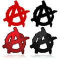 Anarchy symbol of the anarchist movement a capital a on top of a circle Royalty Free Stock Image
