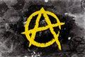 Anarchy symbol on a background