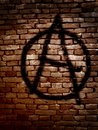 Anarchy symbol Royalty Free Stock Photo