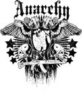 Anarchy vector illustration ideal for printing on apparel clothes Stock Images