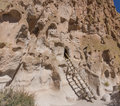 Anasazi cliff dwellings Fotografia Stock