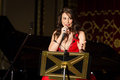 Anastasia zannis born and raised in athens soprano studied at the royal academy of music in london specializing in jazz before Stock Photos