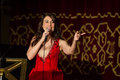 Anastasia zannis born and raised in athens soprano studied at the royal academy of music in london specializing in jazz before Royalty Free Stock Photography