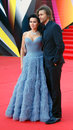 Anastasiya zavorotnyuk actress and tv presenter with her husband at xxxv moscow international film festival red carpet opening Stock Photo