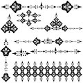 Anatolia design elements illustrated set of patterned Royalty Free Stock Photos